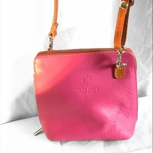 Vera Pelle Italian Leather CrossBody Shoulder bag